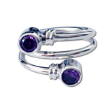 Curly CZ Ring - Purple