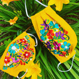 Reusable Embroidered FaceMasks - Floral