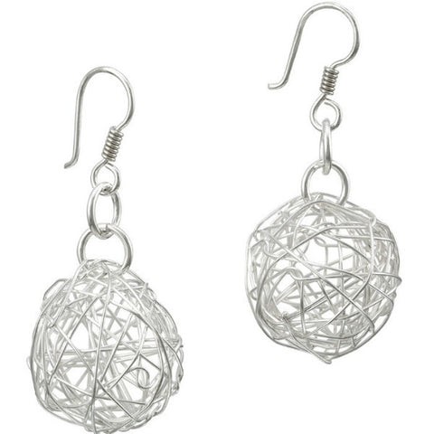 Wire Ball Earrings - Large