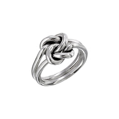 Sterling Silver (.925) Double Knot Ring