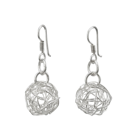 Wire Ball Earrings - Small