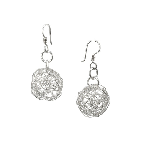 Wire Ball Earrings - Medium