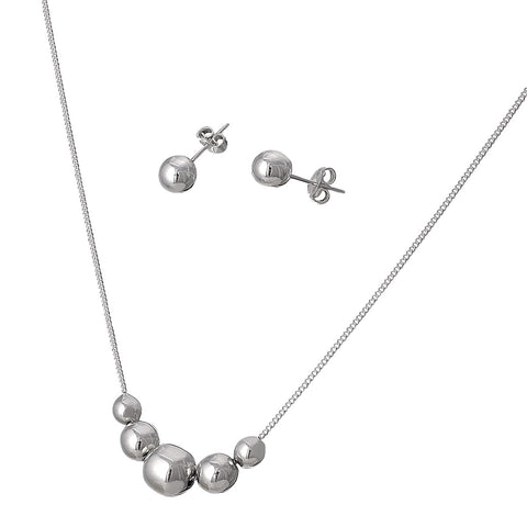 Graduated Ball Necklace Set