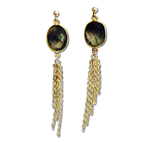 Tassel Earrings - Smoky Quartz