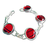 Infinity Bracelet - Crystal Red