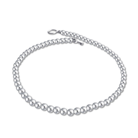 "Classic Ball Beads Necklace (6mm, 16"")"
