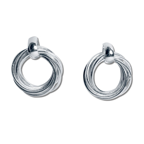 7 Rings Silver Earrings