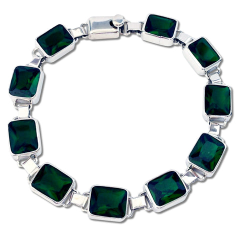 Emerald Rectangular Bracelet