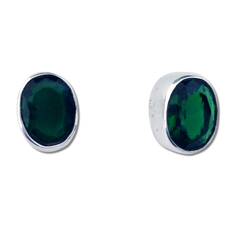 Oval CZ Earrings - 3 Colors Available
