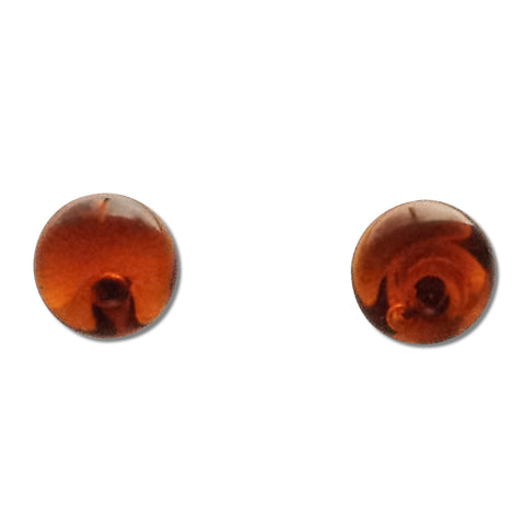 Glass Ball Studs - Amber