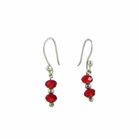 Brillo Earrings - Red