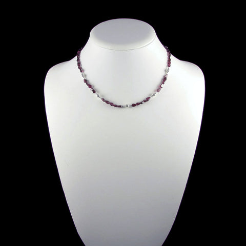 Carla Necklace - Garnet