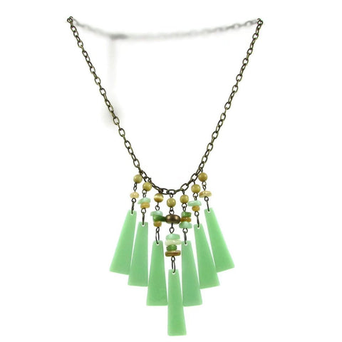 Cascada Triangles Necklace - Mint