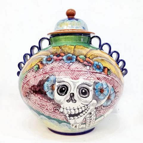 Catrina and Clouds Decorative Vase