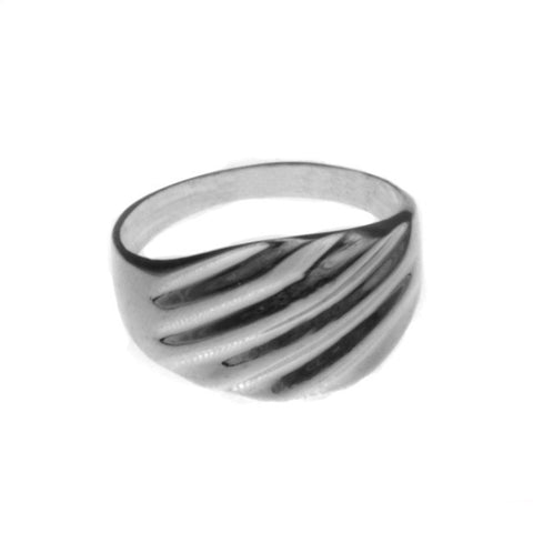Silver Rouched Ring
