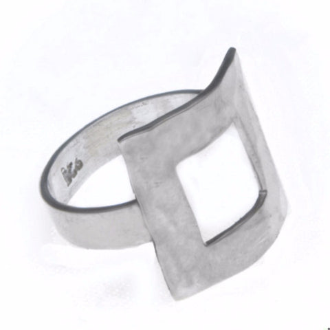Hammered Cool Ring - Square