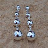 Four Ball Graduated Earrings
