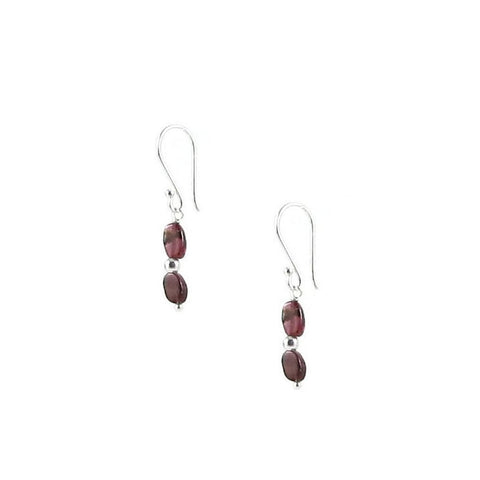 Small Garnet Earrings