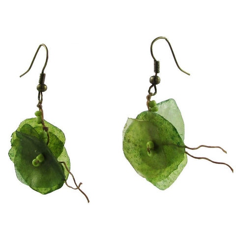 Fish Scales Earrings - Moss
