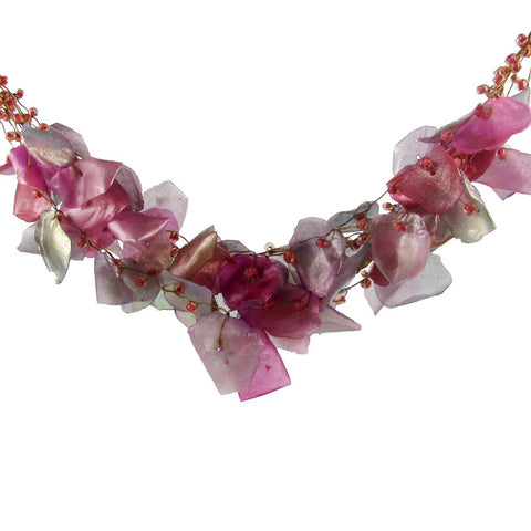 Fish Scales Necklace - Magenta