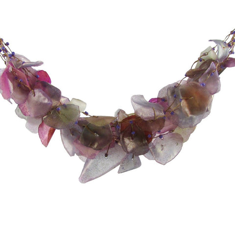 Fish Scales Necklace - Mauve