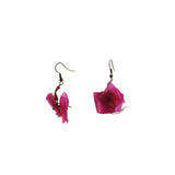 Fish Scales Earrings - Bougainvillea