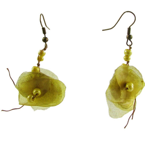 Fish Scales Earrings -Yellow