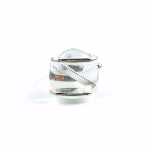 Parallel Glass Ring - Clear