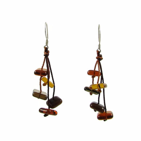 Zen Glass Earrings - Amber