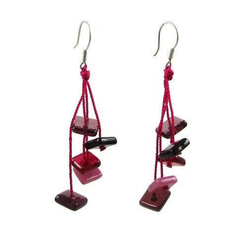 Zen Glass Earrings - Cherry