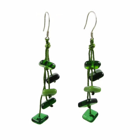 Zen Glass Earrings - Green