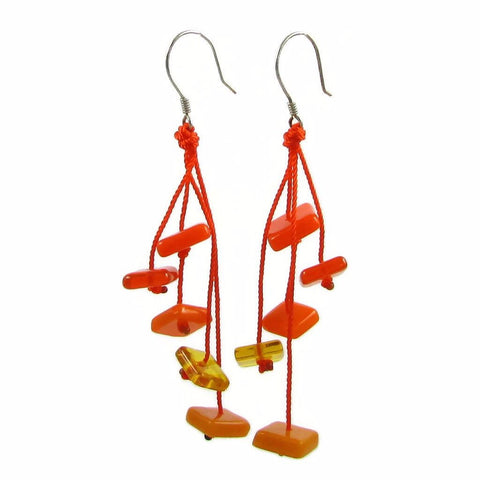 Zen Glass Earrings - Orange