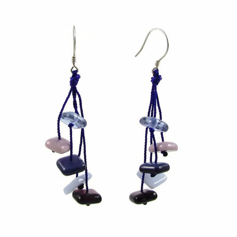 Zen Glass Earrings - Black