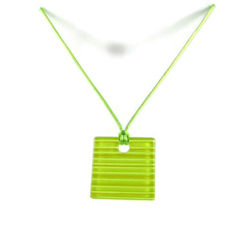 LGAN Glass Pendant - Lime Green