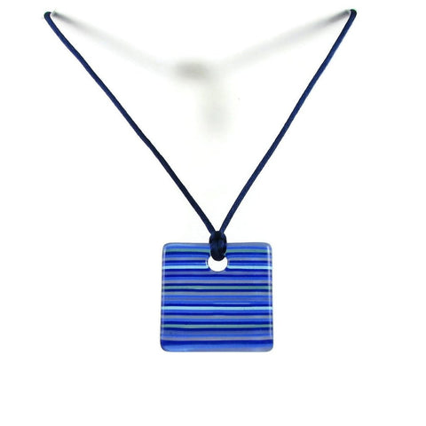 LGAN Glass Pendant - Navy