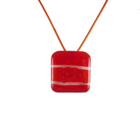 """Murano"" Glass Pendant - Orange"