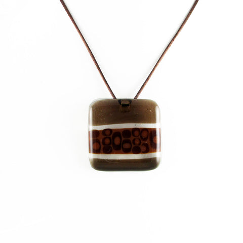 """Murano"" Glass Pendant - Brown"