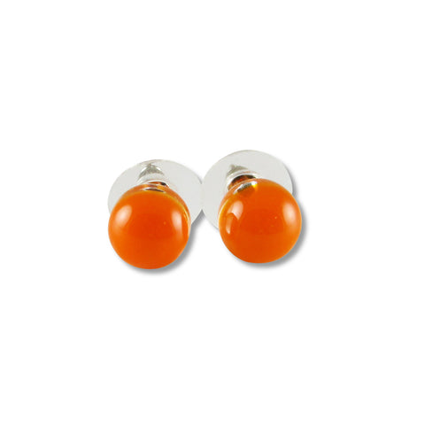 Glass Ball Studs - Orange