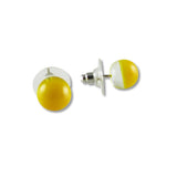 Glass Ball Studs - Yellow