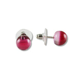 Glass Ball Studs - Purple