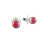 Glass Ball Studs -Dark Pink