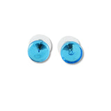 Glass Circle Studs - Blue