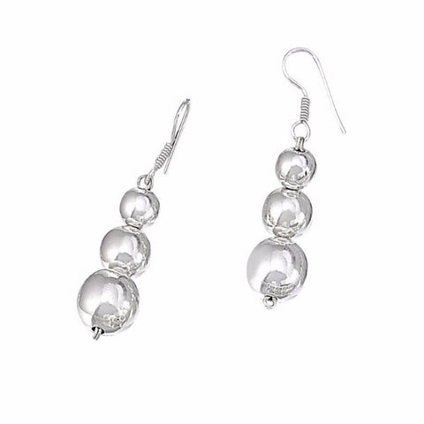 Graduated Triple Ball Earrings