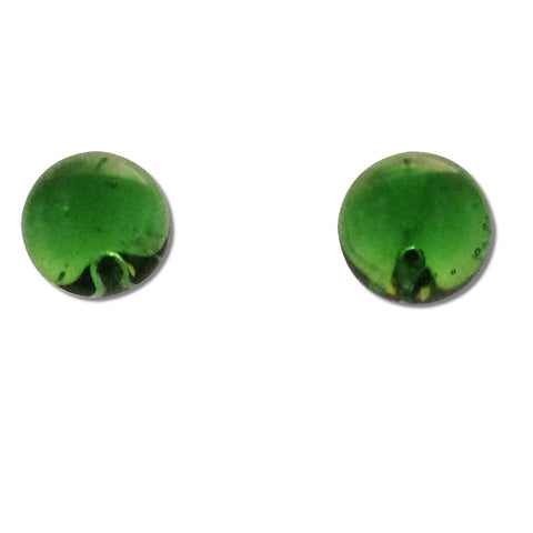 Glass Ball Studs - Green