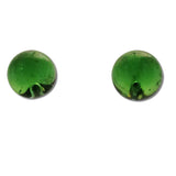Glass Ball Studs - Lime Green