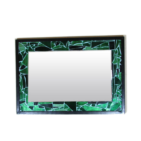 Green Mosaic Mirror