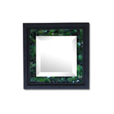 Green Mosaic Beveled Mirror