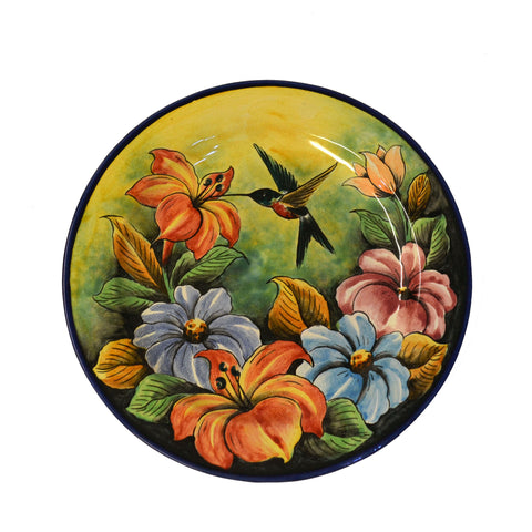 Hummingbird and flowers Decorative Plate