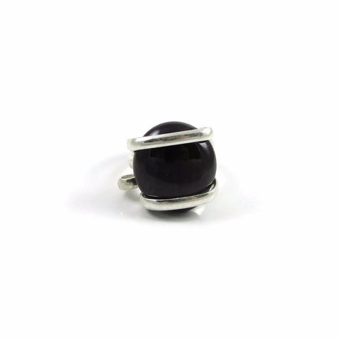 Parallel Glass Ring - Chocolate