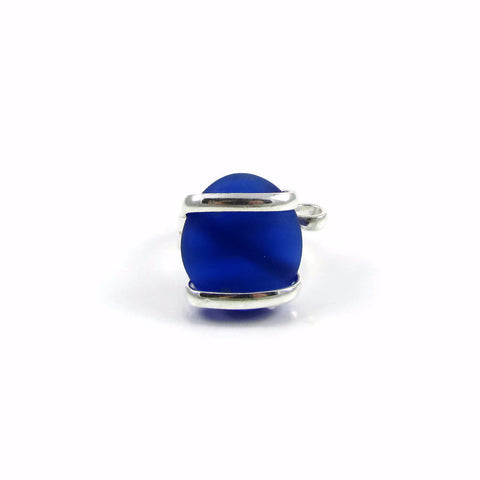 Parallel Glass Ring - Navy Matte